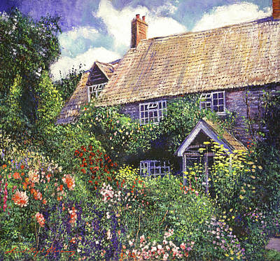 Painting - Cottage Gardens by David Lloyd Glover