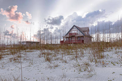 Photograph - Cottage On The Soft Sunset Dunes by Debra and Dave Vanderlaan