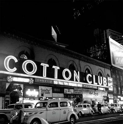 Photograph - Cotton Club Marquee In Ny by Michael Ochs Archives