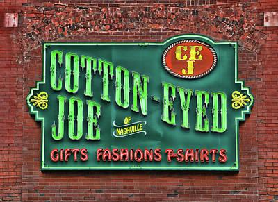 Photograph - Cotton Eyed Joe - Nashville by Allen Beatty