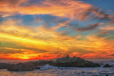 Couds At Sunset Art Print by Fernando Margolles