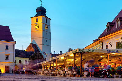 Photograph - Council Tower Of Sibiu by Fabrizio Troiani
