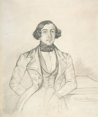 Drawing - Count Philibert-oscar De Ranchicourt by Theodore Chasseriau