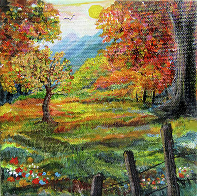 Painting - Country Autumn by Jean Batzell Fitzgerald