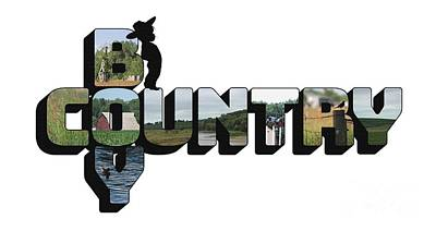 Photograph - Country Boy Big Letter by Colleen Cornelius