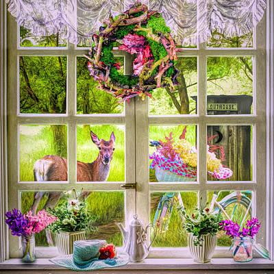 Digital Art - Country Cottage by Debra and Dave Vanderlaan