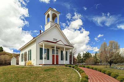 Photograph - Country Farmhouse Church by James Eddy