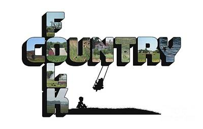 Photograph - Country Folk Big Letter Graphic Art by Colleen Cornelius