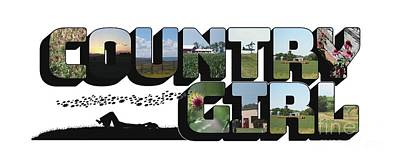 Photograph - Country Girl Big Letter by Colleen Cornelius