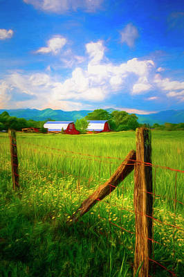 Photograph - Country Life Painting by Debra and Dave Vanderlaan