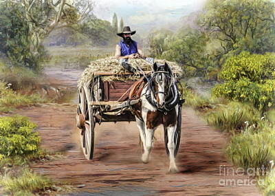 Digital Art -  Country Life by Trudi Simmonds