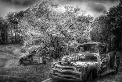 Photograph - Country Moonshine In Black And White by Debra and Dave Vanderlaan