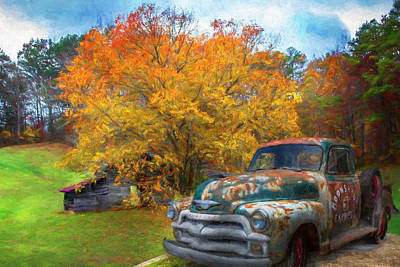 Photograph - Country Moonshine Oil Painting by Debra and Dave Vanderlaan