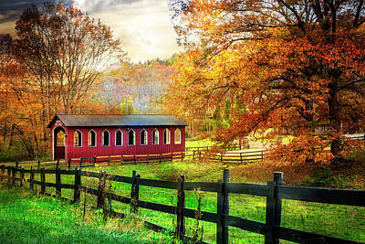 Photograph - Country Red In Autumn by Debra and Dave Vanderlaan