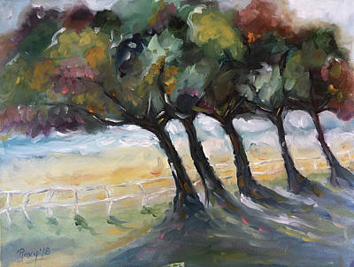 Landscape Painting - Country Road by Roxy Rich