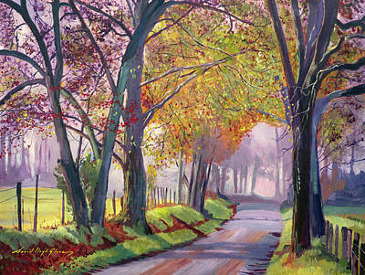 Painting - Country Roads  by David Lloyd Glover