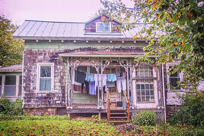 Photograph - Country Wash Day by Lynn Bauer