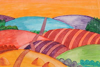 Painting - Countryside by Dobrotsvet Art