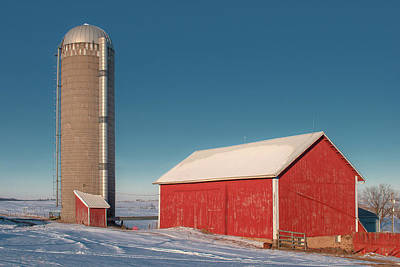 Photograph - County Highway F Barn by Todd Klassy