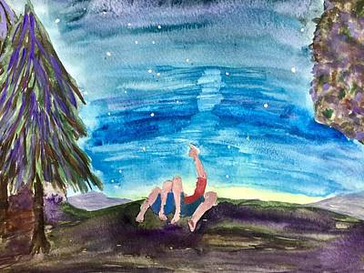 Painting - Couple Star Gazing by Karen Floch