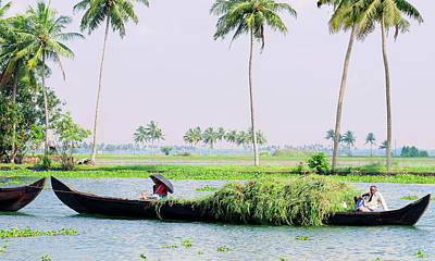 Kerala Photograph - Couple Transports Harvest In Kerala by Danita Delimont