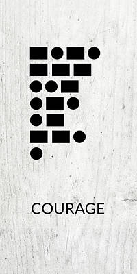 Digital Art - Courage Morse Code 2- Art By Linda Woods by Linda Woods