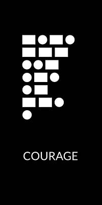 Digital Art - Courage Morse Code- Art By Linda Woods by Linda Woods