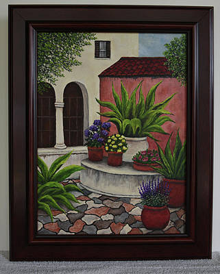 Painting - Courtyard by Gloria Johnson