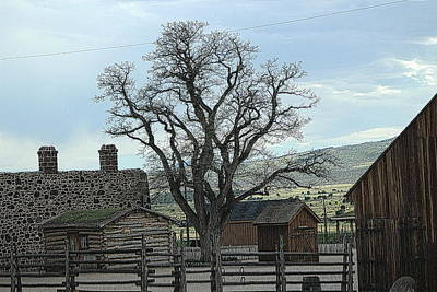 Photograph - Cove Fort Utah Postprocessed by Colleen Cornelius