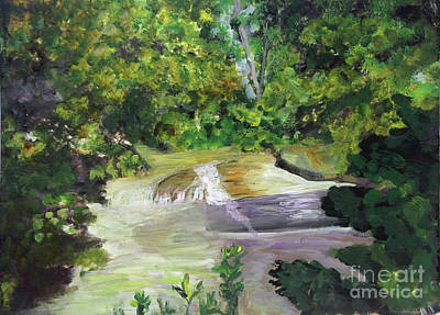 Painting - Coventry Falls 2 by Donna Walsh