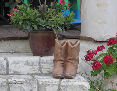 Photograph - Cowboy Boots On The Porch by Monique Montney