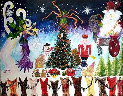Painting - Cowboy Christmas  by Lettie Atkins
