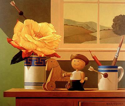 Wall Art - Painting - Cowboy by Nilton Mendonca