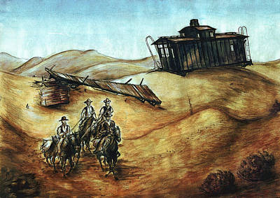 Painting - Cowboys And Canyons - Western Art Painting by Peter Potter