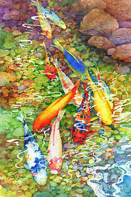 Painting - Coy Koi by Hailey E Herrera