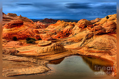 Photograph - Coyote Buttes Storms T-shirt by Adam Jewell