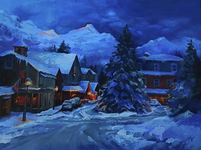 Painting - Cozy Kennebunkport Night by Jeri McDonald