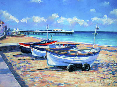 Crab Boats On Cromer Beach Original