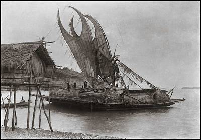 Painting - Crab Claw Sails Glass Negative  Polynesia  Unidentified Photographer  by Celestial Images