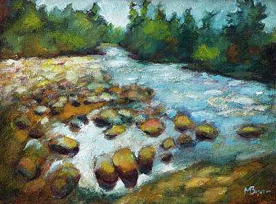 Painting - Crabtree Creek by Mike Bergen