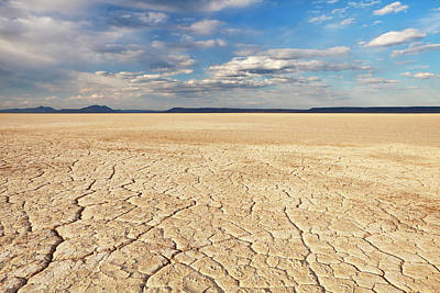 Alvord Desert Wall Art - Photograph - Cracked Earth In Remote Alvord Desert by Sara winter