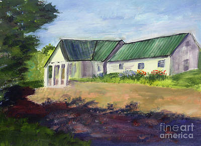 Painting - Craftsbury Common Library by Donna Walsh