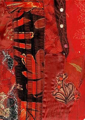 Mixed Media - Crafty Red by Nareeta Martin