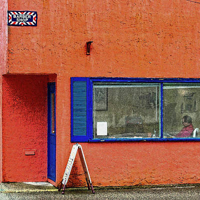 Paints Wall Art - Digital Art - Cranberry Barber Shop by Bill Linn