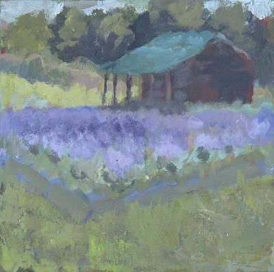 Painting - Cranberry Lake Lavender Farm by Anna Barnhart