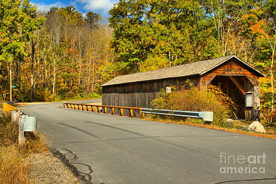 Photograph - Crane Brook Road Covered Bridge by Adam Jewell