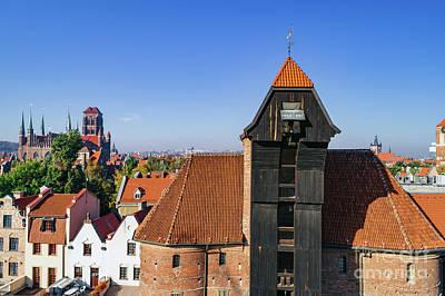 Photograph - Crane In Old Town In Gdansk. by Michal Bednarek