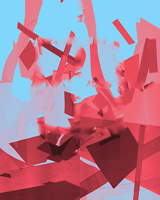 Digital Art - Crashing Down Abstract by Artist Dot