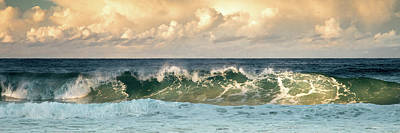 Photograph - Crashing Waves And Cloudy Sky by Uncle Arny