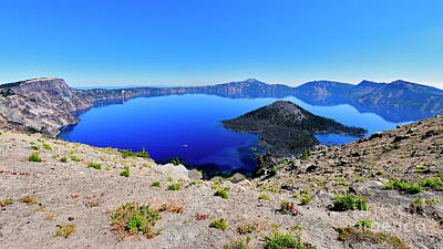 Photograph - Crater Lake Oregon by Bipul Haldar